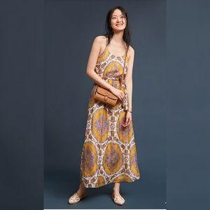 Anthropologie akemi kin Medallion Maxi dress